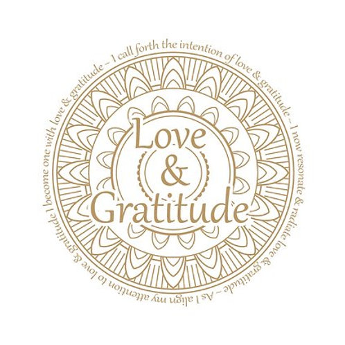 """Love & Gratitude"" Vibrational Sticker"