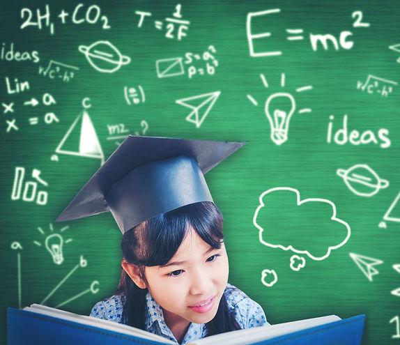 Asian school kid graduate in graduation