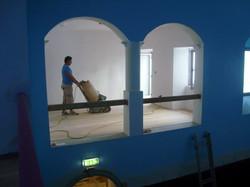 Sanding the floors