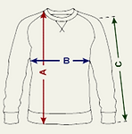 Sweatshirt measure guide, AnbudanSugi.pn