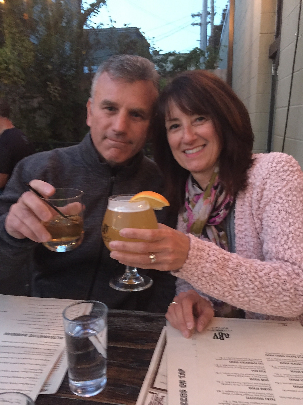 Parents On Patio Drinking