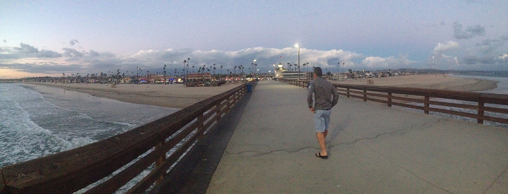 Newport Beach Pier in California