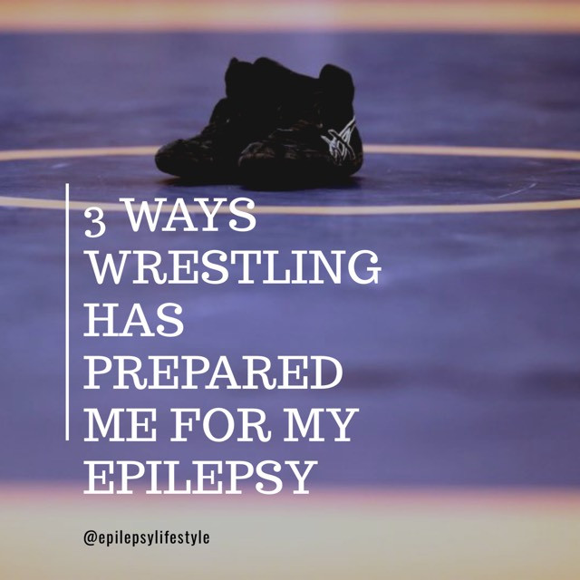 Wrestling Shoe On Wrestling Mat
