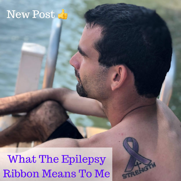 Epilepsy Ribbon Tattoo on Shoulder