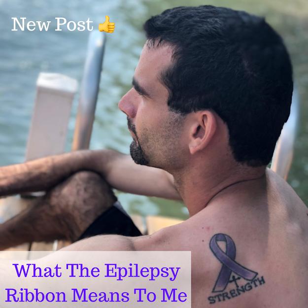 Epilepsy Ribbon Tattoo on Shoulder