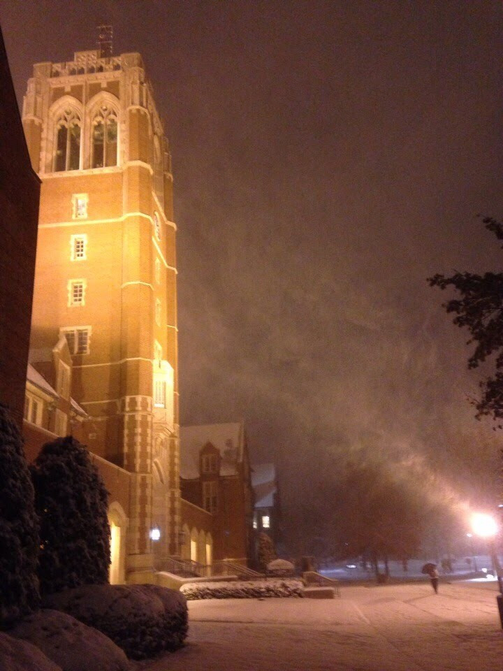 John Carroll University Tower at Night