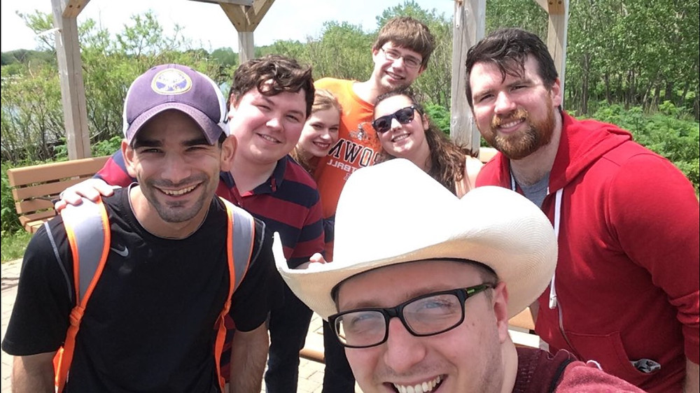 Group Of Friends On Hiking Trail