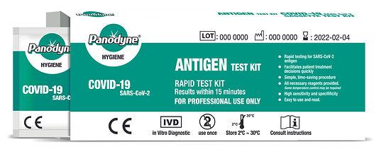 Panodyne COVID19 Antigen test kit open b
