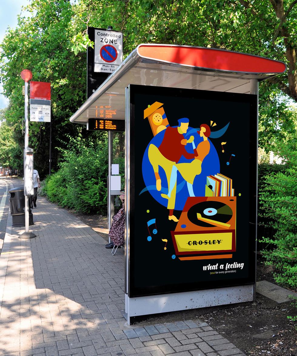 Crosley Bus Stop Ad