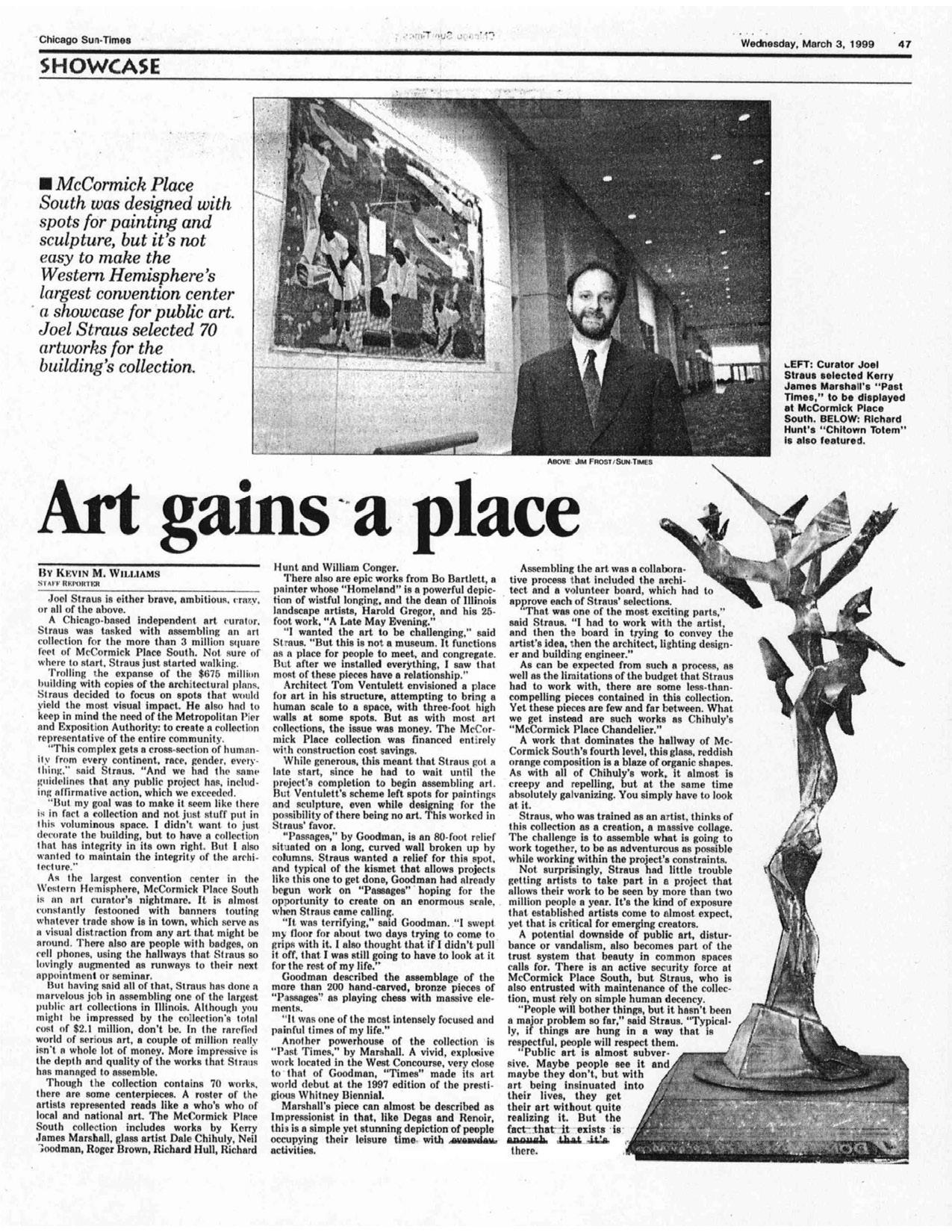 Art Gains a Place