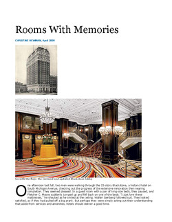 Rooms with Memories