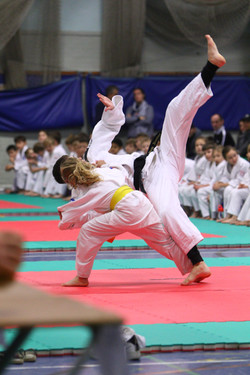 Young girl overcoming fear - Martial Arts Classes Woking