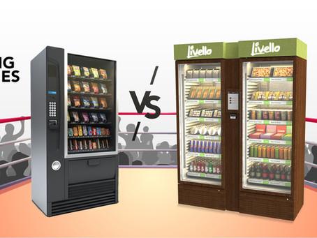 Livello vs. traditionelle Verkaufsautomaten