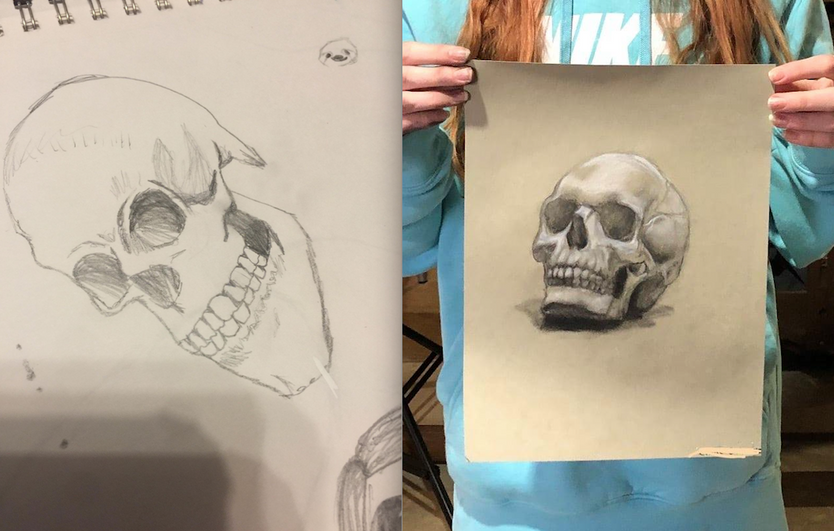 Before/After: Student Work after 8 Months
