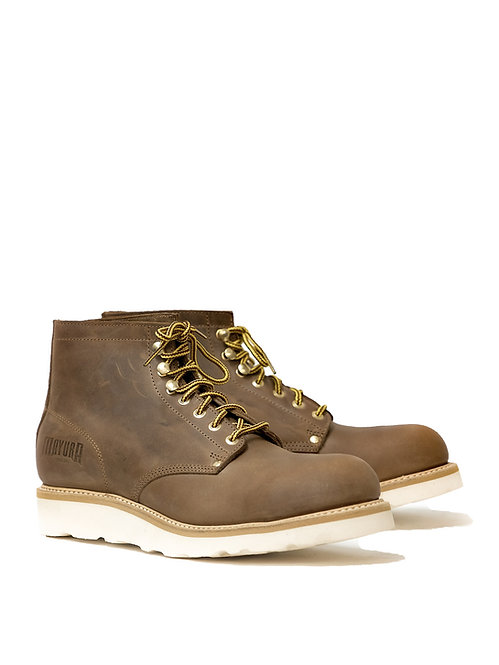 Mayura Brown Worker Boots Vibram