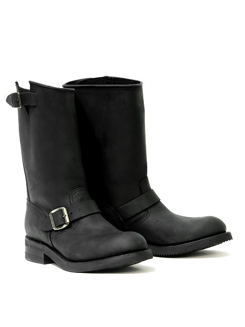 Mayura Engineer Matte Black Leather Boot