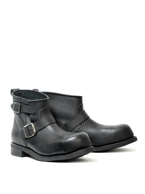 Mayura Engineer Black Low Leather Boot w/ Steel Toe