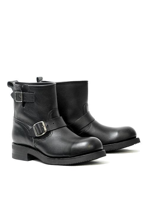Mayura Engineer Mid Black Leather Boot
