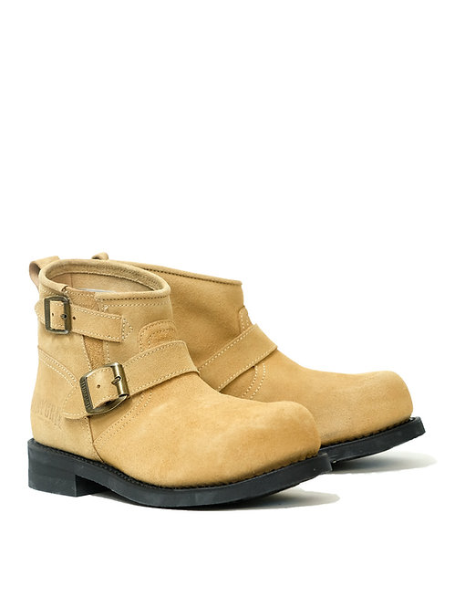 Mayura Engineer Beige Low Suede Boot w/ Steel Toe