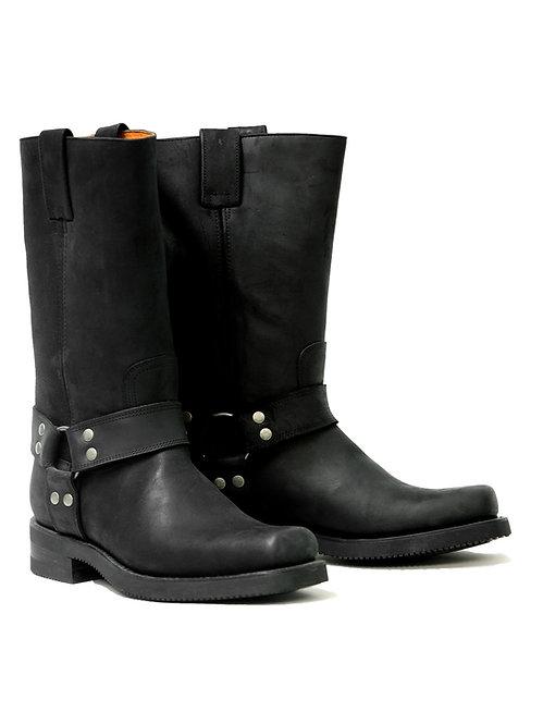 Mayura Harness High Black Leather Boot