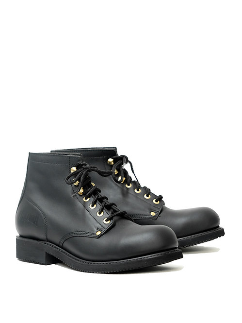 Mayura Black Worker Boots Steel Toe