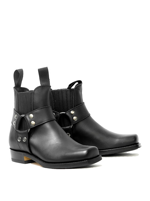 Mayura Harness Black Low Leather Boot