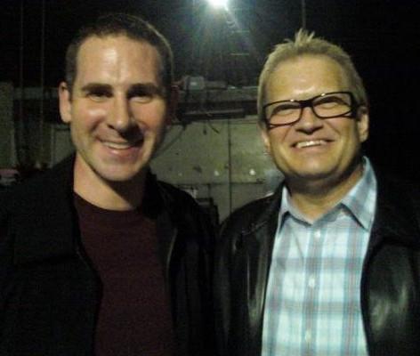 With Drew Carey