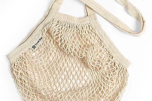 Cream string bag