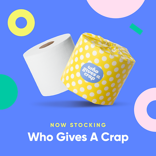 Who Gives A Crap 100% Recycled Toilet Paper - 48 Double Length Rolls