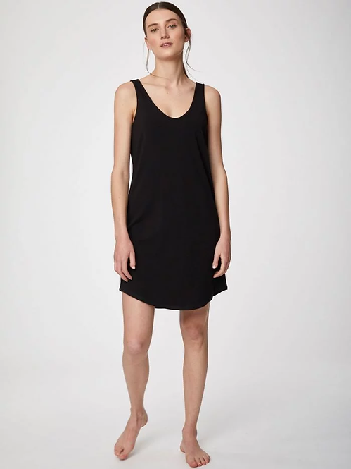 Hannah Bamboo Slip Dress In Black