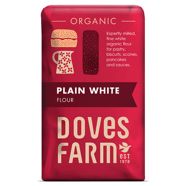 Doves Farm Organic Plain White Flour 1kg