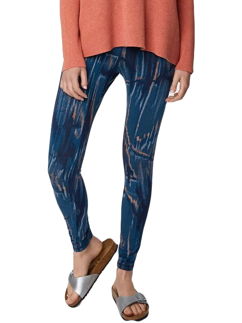 Ammonite Bamboo Legging In Marine Blue