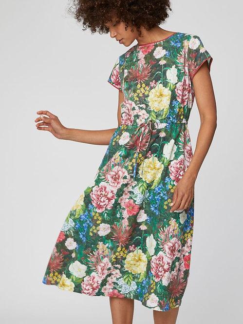 Leolani Unique Floral Print Midi Dress