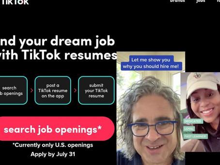 TikTok Luncurkan Fitur TikTok Resumes, Perusahaan Rekrut Pekerjaan Lewat #CareerTok