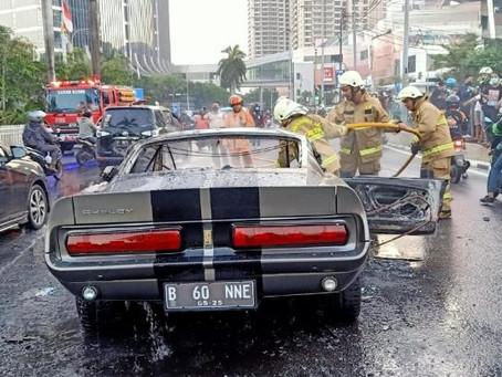 Ford Mustang 'Eleanor' 1966 yang Terbakar di Pondok Indah Diduga Karena Korsleting Listrik