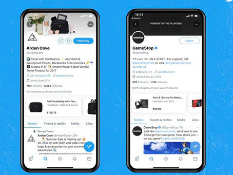 Twitter Luncurkan Fitur Shopping 'Shop Module'