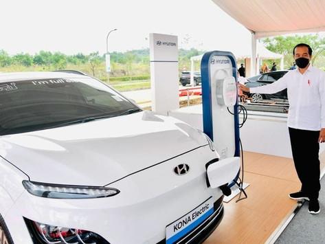 Jokowi Resmikan Pabrik Baterai Mobil Listrik Pertama di ASEAN