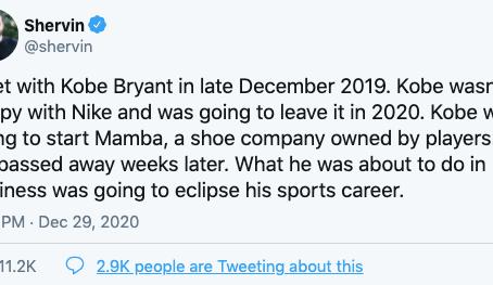 Kobe Bryant Ingin Tinggalkan Kolaborasinya Bersama Nike dan Memulai Brand Sneakers 'Mamba'