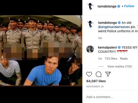 Mantan Vokalis Blink182 Sindir Seragam Polisi Indonesia di Instagram, Polri Beri Respons