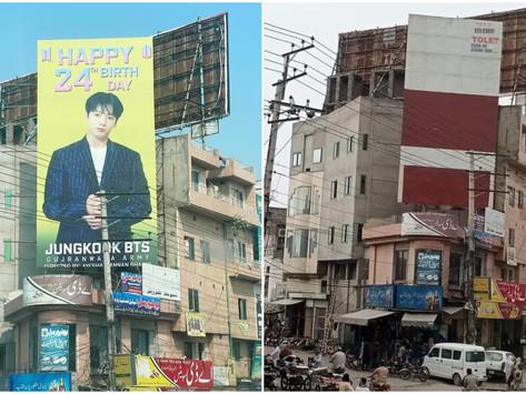 Billboard Ucapan Ulang Tahun Anggota BTS di Pakistan Diturunkan dan Dianggap Promosikan LGBT