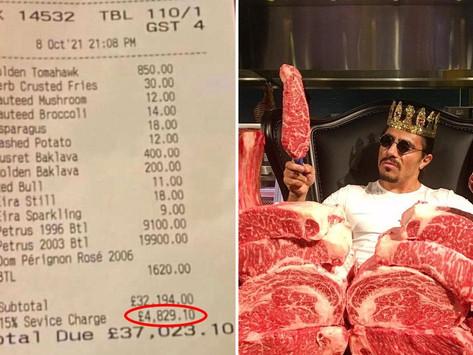Viral Biaya Service di Restoran 'Salt Bae' Lebih Mahal, Kritikus Sebut Pelanggan 'Kaya tapi Bodoh'