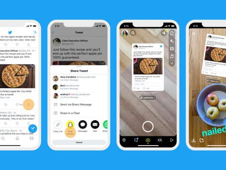 Twitter Uji Coba Bagikan Tautan Tweet ke Snapchat dan Instagram Story