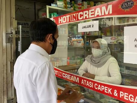 Jokowi Periksa Dadakan Apotek di Kota Bogor, Stok Obat Antivirus dan Vitamin Kosong