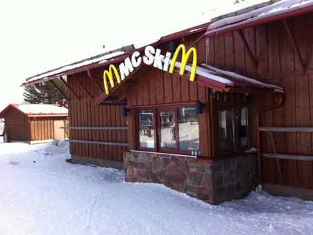 Ada Gerai McDonald's di Area Ski Lindvallen Bernama McSki