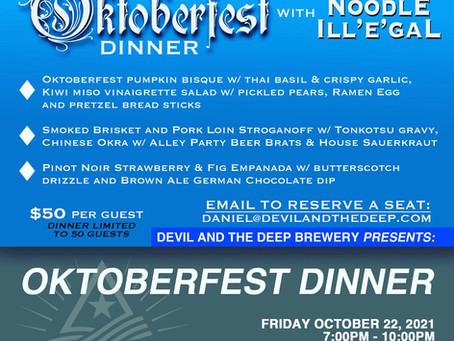 Oktoberfest dinner!