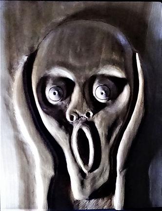 le cri d 'après Edward Munch