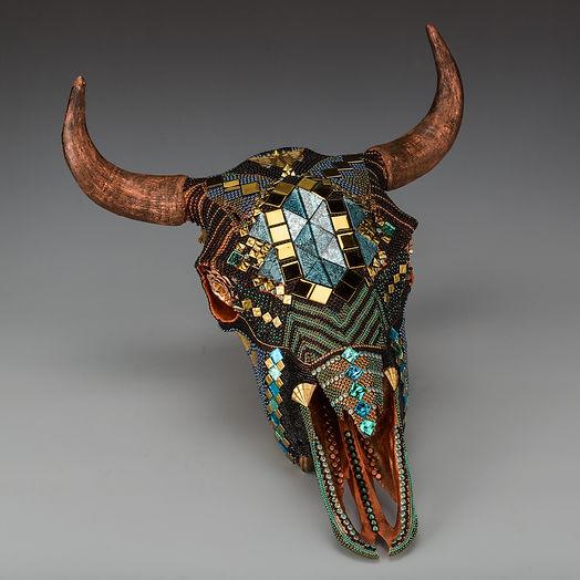 Elisi mosaic skull