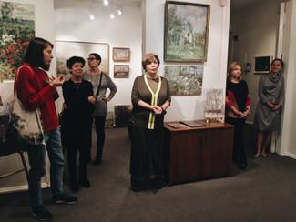 Студенты отделения посетили открытие выставки «Двойной портрет в пейзаже» в «NB Gallery»