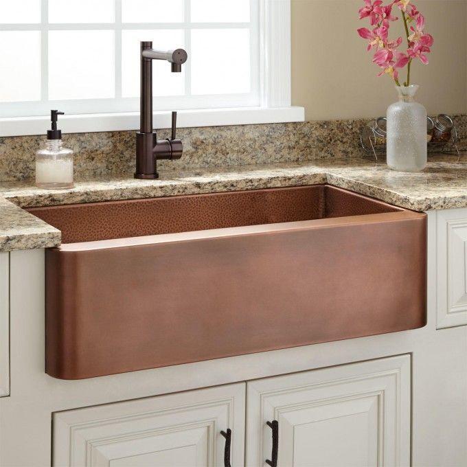copper farm sink