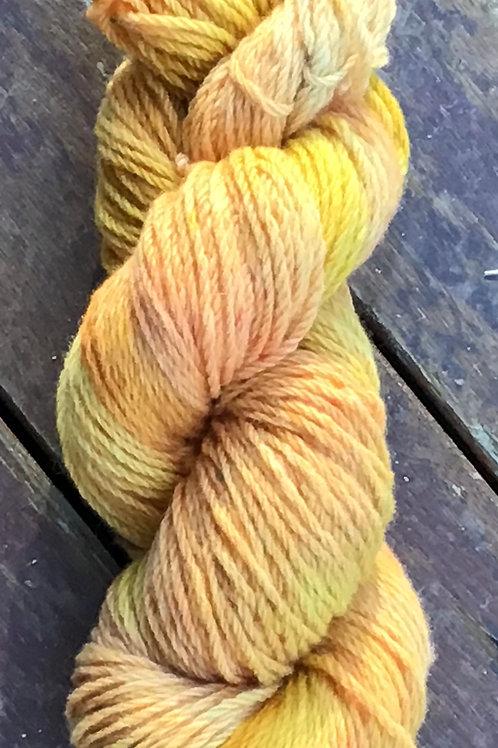 Citrus surprise Polwarth yarn 8 ply 100 g